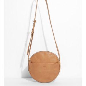 Baggu Leather Circle Purse, Camel